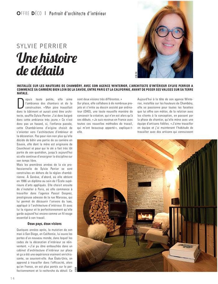 Portrait de Sylvie Perrier architecte d'intérieur en Savoie