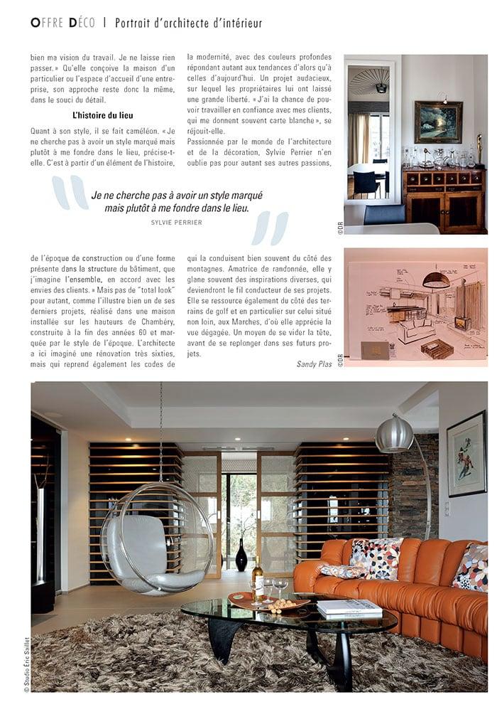 Portrait Sylvie Perrier architecte d'intérieur en Savoie