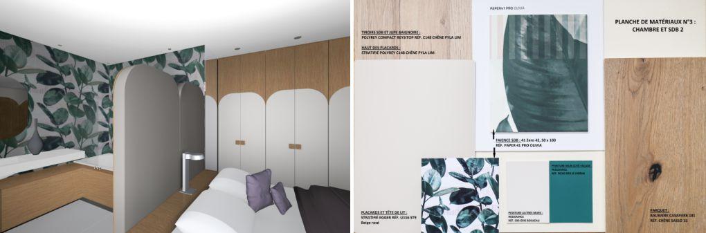 PROJET 3D architecture intérieure chambéry chambre